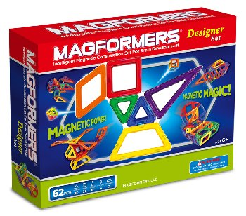Magformers Designer Set - 62 Pieces in 5 Shapes