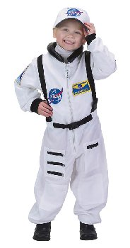 Jr. Astronaut Suit with Embroidered Cap - size 12/14 (White)