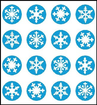 Snowflakes Incentive Stickers