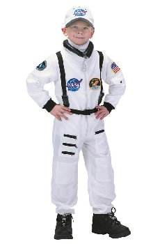 Jr. Astronaut Suit with Embroidered Cap - size 2/3 (White)