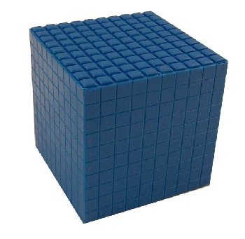 Interlocking Blue Decimeter Cube