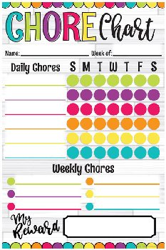 Magnetic Write & Wipe DIY Dots Chore Chart