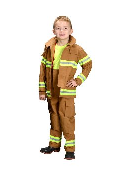 Junior Firefighter Suit - size 2/3 (Tan)