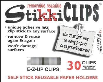 StikkiClips - Set of 30 White
