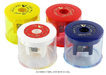 Wax Crayon Sharpener w/ See-Through Container (assorted color)