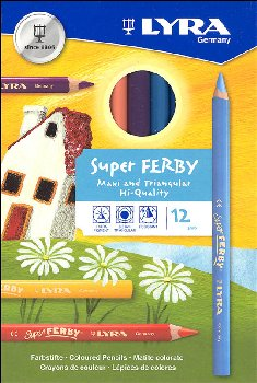 Lyra Super Ferby Triangular Colored Pencils (Set of 12)