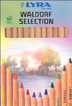 Waldorf Selection 6.25mm Unlacquered Triangular Colored Pencils - 12 Colors
