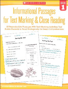 Informational Passages for Text Marking & Close Reading Grade 1