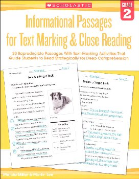 Informational Passages for Text Marking & Close Reading Grade 2