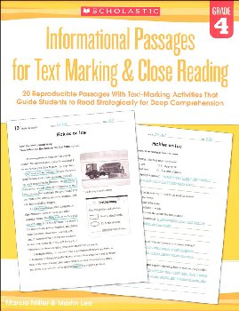 Informational Passages for Text Marking & Close Reading Grade 4