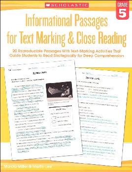 Informational Passages for Text Marking & Close Reading Grade 5