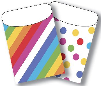 Brite Pockets: Angle Stripes/Colorful Dots Twin Pack