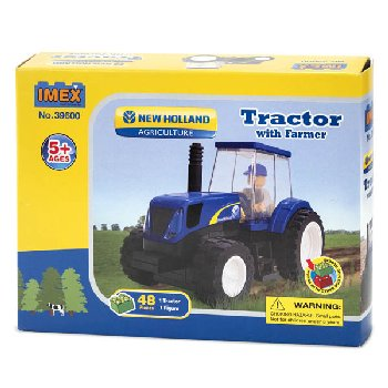 New Holland TS6 Tractor with Farmer Construction Block Set