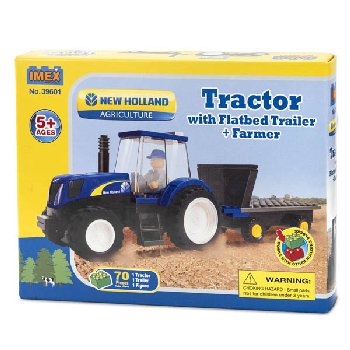 New Holland TS6 Tractor with Trailer & Farmer Block Set