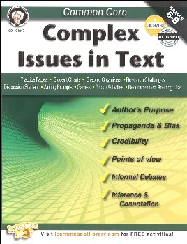 Common Core: Complex Issues in Text (Mark Twain Media Common Core Series)