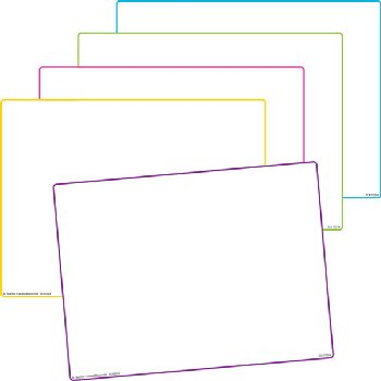 Blank Dry Erase Boards(pk/5) (1 ea 5 borders)