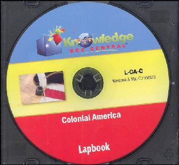 Colonial America Lapbook CD-Rom