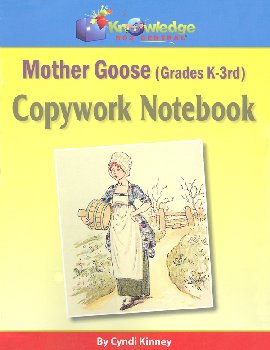 Mother Goose Copy Work Notebook for Grades K-3