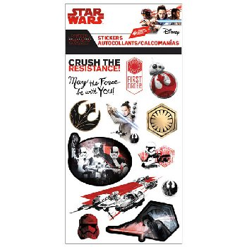Star Wars 8 Standard Stickers (4 Sheet)
