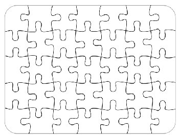 Bare Blank Puzzle (35 piece)