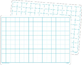 Math Grid Dry Erase Board (single)