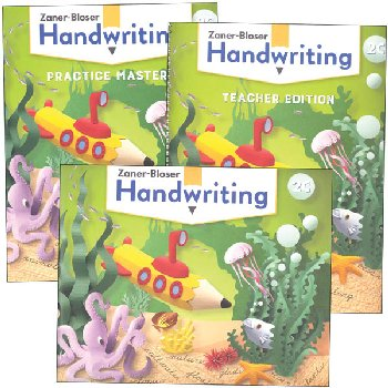 Zaner-Bloser Handwriting Grade 2C Homeschool Bundle - Student Edition/Teacher Edition/Practice Masters (2020 edition)