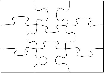 Two-Sided Blank Post Card Puzzle - 9 pieces (5 Pack)