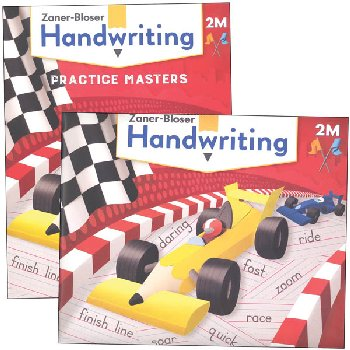 Zaner-Bloser Handwriting Grade 2M Homeschool Bundle - Student Edition/Practice Masters (2020 edition)