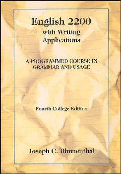 English 2200 with Writing Applications: A Programmed Course in Grammar and Usage