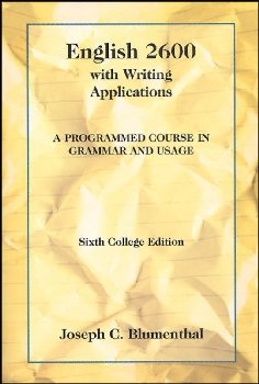 English 2600 with Writing Applications: A Programmed Course in Grammar and Usage