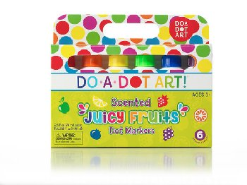 Do-A-Dot Juicy Fruit Scented Markers - Washable (6-pack)