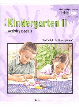 Kindergarten II - LittleLight Activity Book 3