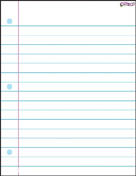 Notebook Paper Wipe-Off Chart