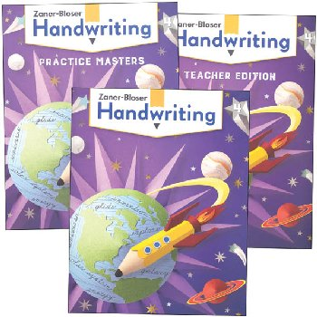 Zaner-Bloser Handwriting Grade 4 Homeschool Bundle - Student Edition/Teacher Edition/Practice Masters (2020 edition)