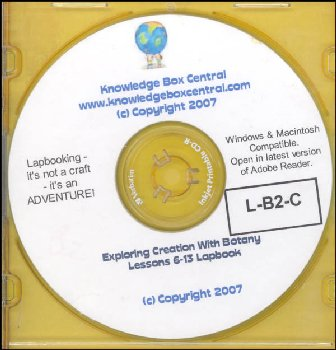 Apologia Exploring Creation with Botany Lapbook for Lessons 6-13 CD-ROM
