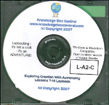 Apologia Exploring Creation with Astronomy Lapbook for Lessons 7-14 CD-ROM