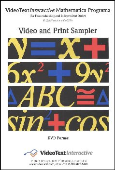 Video and Print Sampler CD (Algebra/Geometry)
