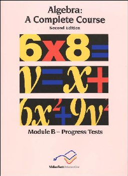 Algebra Module B Progress Tests