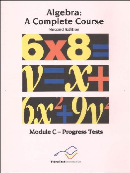Algebra Module C Progress Tests