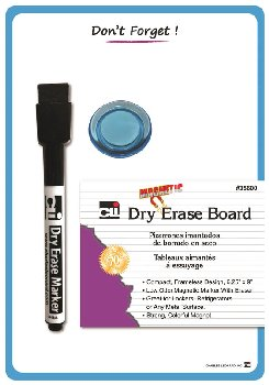"Magnetic ""Donâ??t Forget"" Whiteboard 6.25"" x 9"" with Magnetic Marker/Eraser & Magnet"