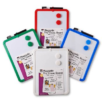 Magnetic Dry Erase Boards - Set of 4