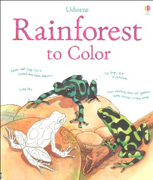 Rainforest to Color Coloring Book
