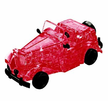 3D Crystal Puzzle - Red Classic Car