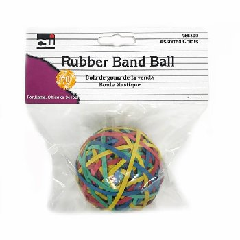 "Rubber Band Ball (2.95"" x 0.125"") assorted colors"
