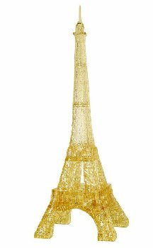 Deluxe 3D Crystal Puzzle - Gold Eiffel Tower