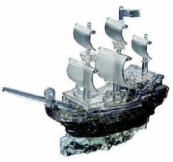 Deluxe 3D Crystal Puzzle - Black Pirate Ship