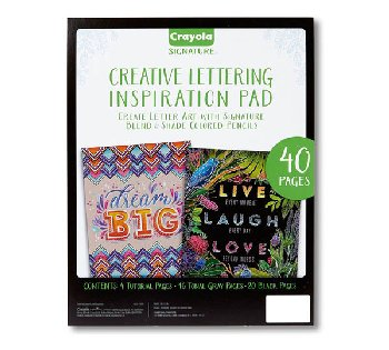 Crayola Signature Creative Lettering Inspiration Pad