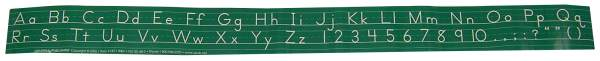 Self-Adhesive Alphabet Desk Strips Manuscript (Green)