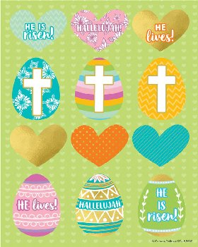 He is Risen Shape Stickers (72 stickers)