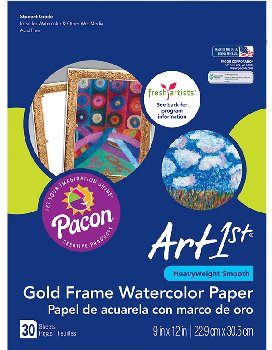 Gold Frame Watercolor Paper
